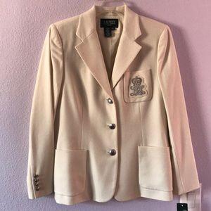 New vintage cream Ralph Lauren wool jacket